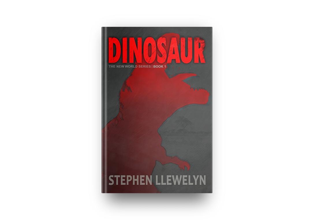DINOSAUR by Stephen Llewelyn book cover in hardback format