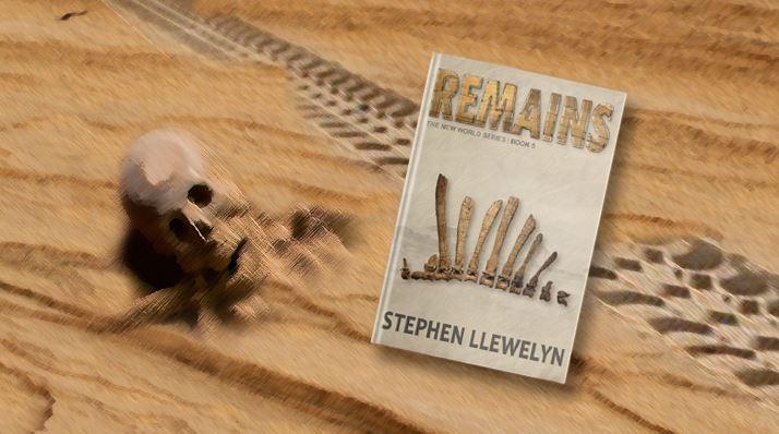 Sketch of a skeleton with Remains book by Stephen Llewelyn. © Stephen Llewelyn